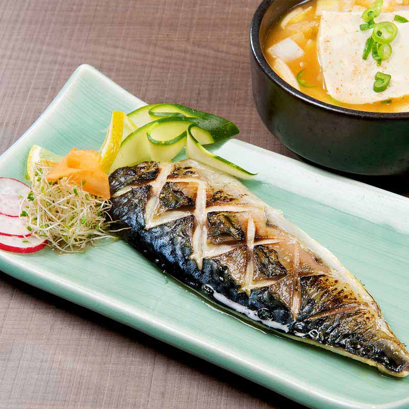 Mackerel and Soy Bean Paste Soup Combo