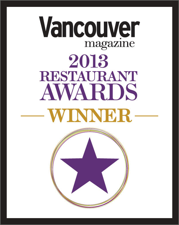 Vancouver Magazine Restaurant Awards 2013