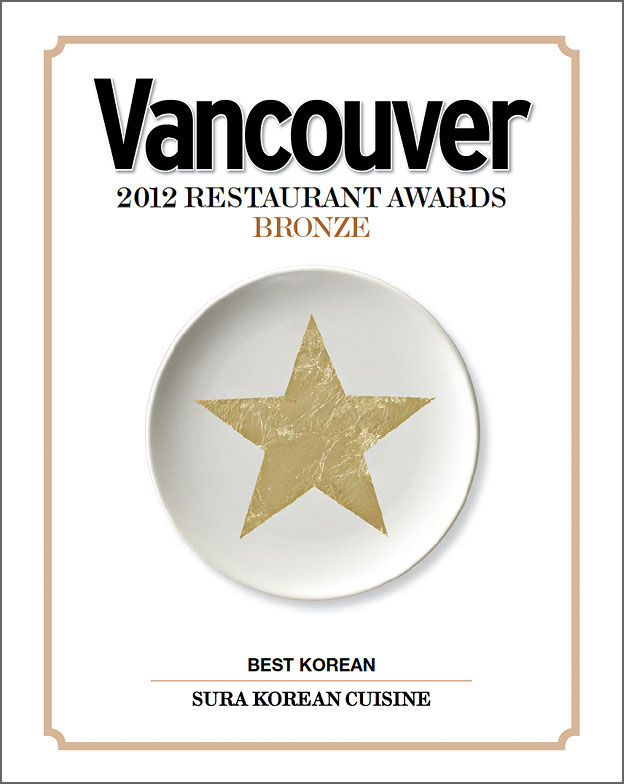 Vancouver Magazine Restaurant Awards 2012