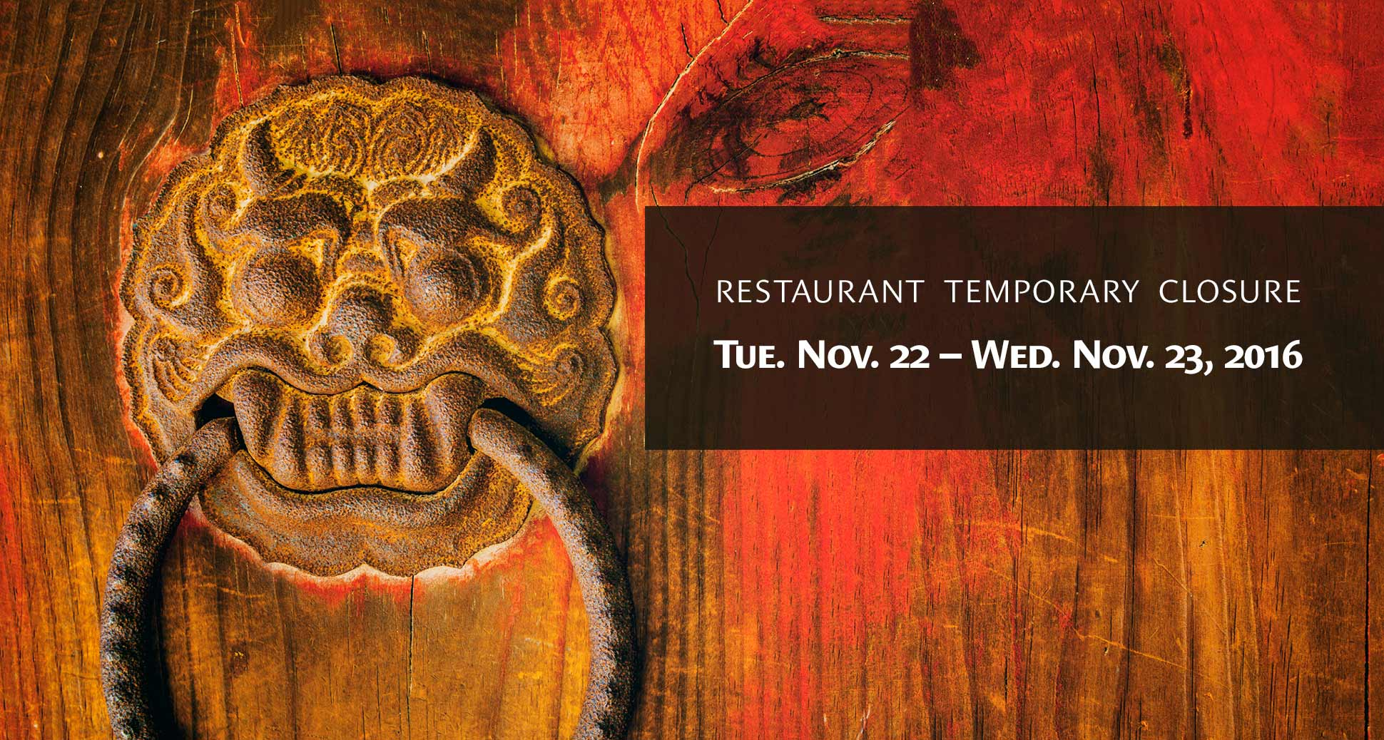 Restaurant Temporary Closure