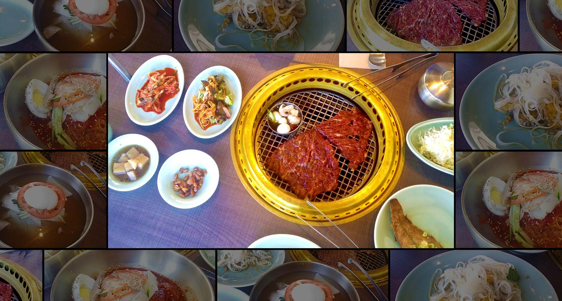 Galbi and mul-naeng-myeon: perfect combination for hot weather