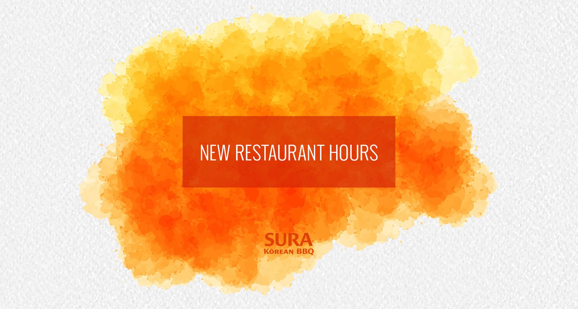New restaurant hours!