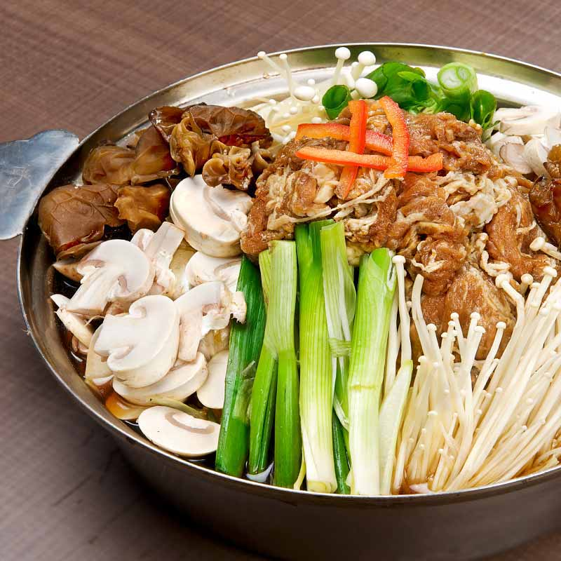 Marinated Beef and Mushroom Hot Pot