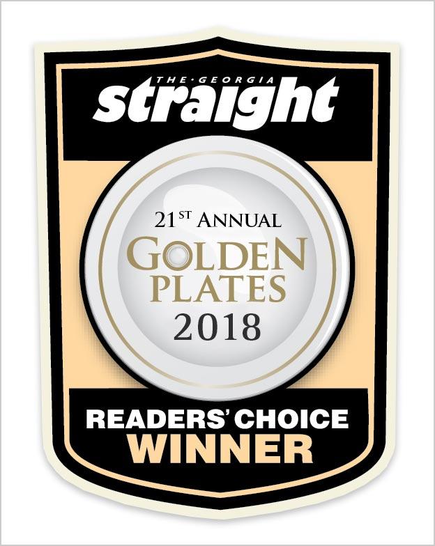 Georgia Straight Annual Golden Plates 2018